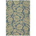 Seaside Blue Garden Indoor/ Outdoor Rug (2' x 3')