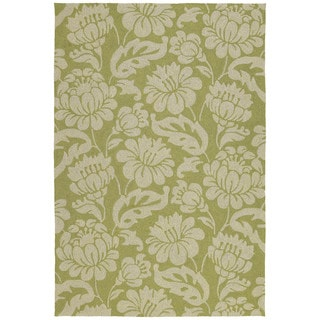 Seaside Green Garden Indoor/ Outdoor Rug (8' x 10')