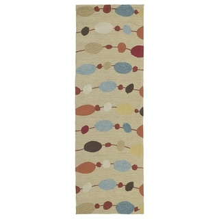 Seaside Partytime Multi Indoor/ Outdoor Rug (2'6 x 8')
