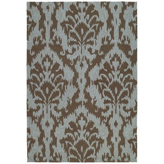 Seaside Chocolate Ikat Indoor/ Outdoor Rug (2' x 3')
