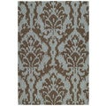Seaside Chocolate Ikat Indoor/ Outdoor Rug (2&#39