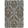 Seaside Chocolate Ikat Indoor/ Outdoor Rug (5' x 7'6)