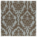 Seaside Chocolate Ikat Indoor/ Outdoor Rug (7'9 Square)