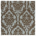 Seaside Chocolate Ikat Indoor/ Outdoor Rug (5'9 Square)