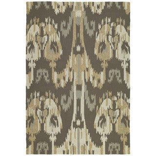 Seaside Brown Ikat Indoor/ Outdoor Rug (10' x 14')