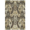 Seaside Brown Ikat Indoor/ Outdoor Rug (5' x 7'6)