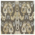 Seaside Brown Ikat Indoor/ Outdoor Rug (7'9 Square)