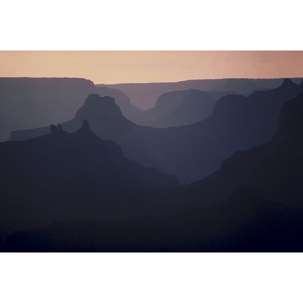 'Grand Canyon National Park at Dawn' Photography Print Canvas Wall Art