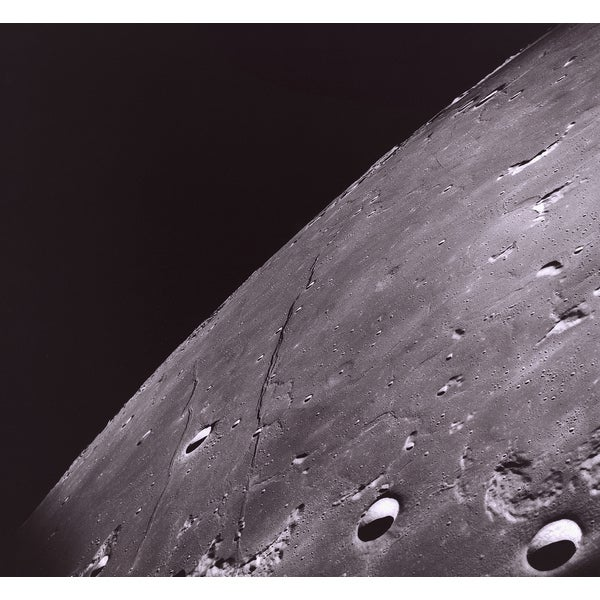 'Surface of the Moon in Space' Photography Print Canvas Wall Art