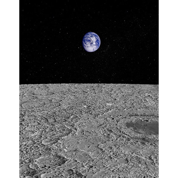 Jason Reed 'View of Earth from the Moon' Photography Print Canvas Wall Art