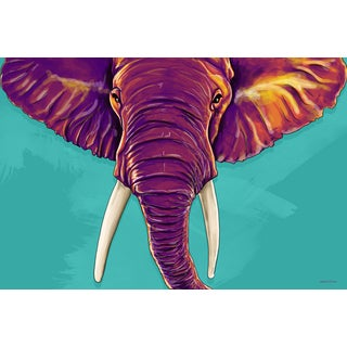 Maxwell Dickson 'Elephant in the Room' Modern Canvas Wall Art