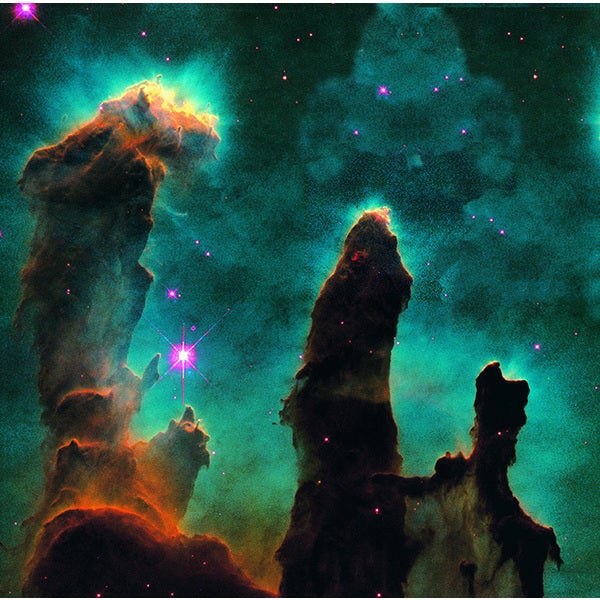 'Gaseous Pillars in the Eagle Nebula' Photography Print Canvas Wall Art