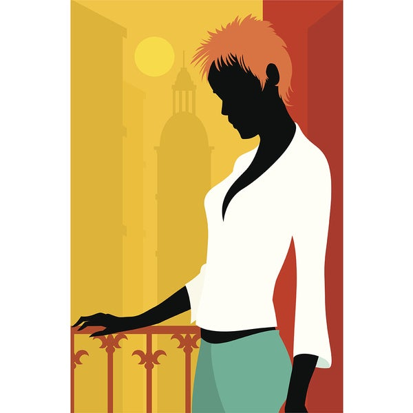 'Fashion Girl' Modern Canvas Print Wall Art