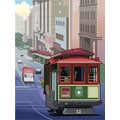 'San Francisco trolley car' Modern Canvas Print Wall Art