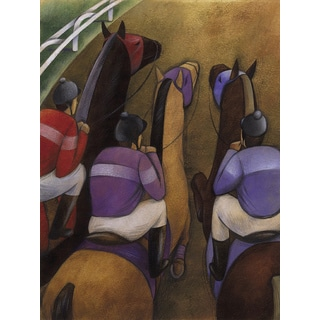 'Jockey Horse Racing' Modern Canvas Print Wall Art