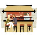 'East Asian Culture, Food' Modern Canvas Print Wall Art