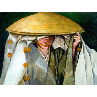 'Japanese Culture, Kimono' Modern Canvas Print Wall Art