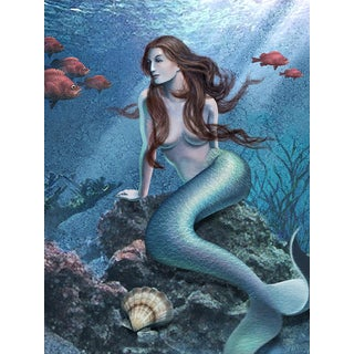'Mermaid' Modern Canvas Print Wall Art