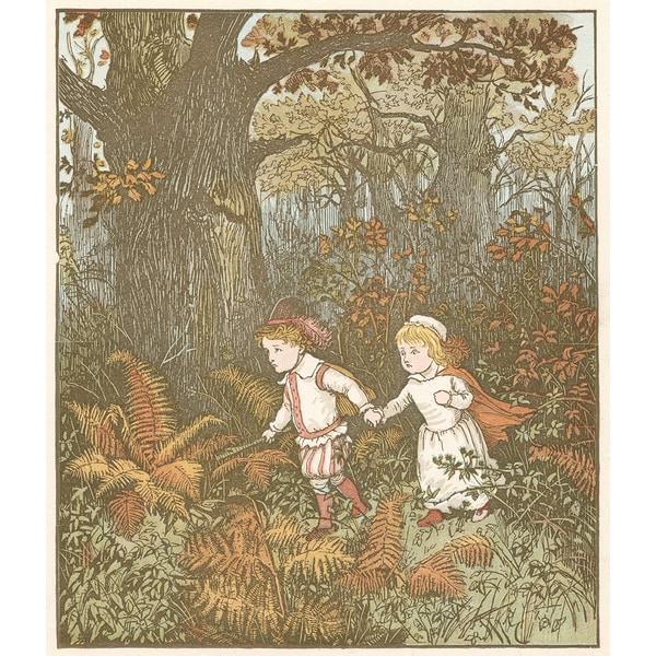 "'Illustration Depicting Fairy Tale of ""Babes in the Wood"" Canvas Print Wall Art"