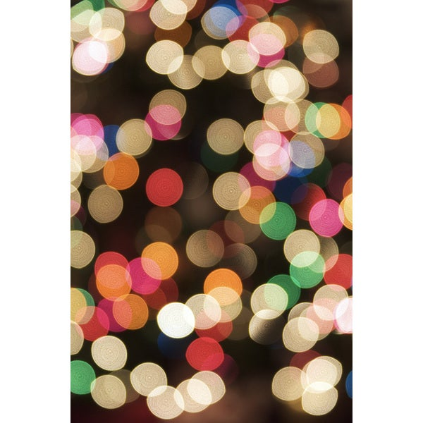 'Blurred Christmas Lights' Abstract Canvas Wall Art sale