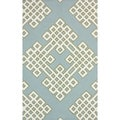 nuLOOM Handmade Modern Lattice Blue Rug (3' 6 x 5' 6)