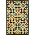 Indoor/Outdoor Ivory/ Multi Polypropylene Area Rug (1'9 x 3'9)