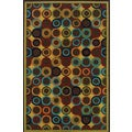 Indoor/Outdoor Brown/ Multi Polypropylene Area Rug (3'7 x 5'6)