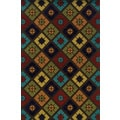Geometric Indoor/ Outdoor Brown/ Multi Polypropylene Area Rug (3'7 x 5'6)
