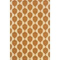 Indoor/Outdoor Ivory/ Orange Polypropylene Area Rug (7'10 x 10'10)