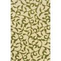 Indoor/Outdoor Ivory/ Green Polypropylene Area Rug (7'10 x 10'10)