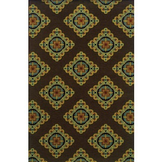 Indoor/Outdoor Brown/ Multi Polypropylene Area Rug (7'10 x 10'10)