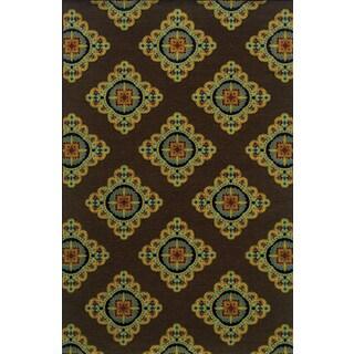 Indoor/ Outdoor Flat-weave Brown/ Multi Polypropylene Area Rug (7'10 x 10'10)