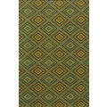 Indoor/Outdoor Brown/ Green Polypropylene Area Rug (7'10 x 10'10)