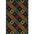 Indoor/ Outdoor Brown/ Multi Polypropylene Geometric Area Rug (7'10 x 10'10)