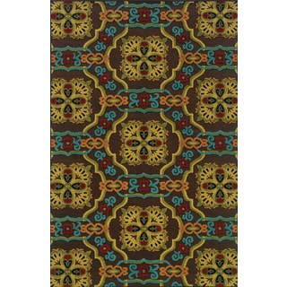 Machine-woven Indoor/ Outdoor Brown/ Multi Polypropylene Area Rug (7'10 x 10'10)