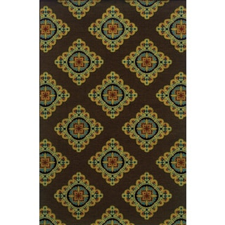 Machine-woven Indoor/ Outdoor Brown/ Multi Polypropylene Area Rug (8'6 x 13')