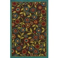 Indoor/ Outdoor Rectangular Brown/ Multi Polypropylene Area Rug (8'6 x 13')