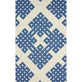 nuLOOM Handmade Modern Lattice White Rug (3' 6 x 5' 6)