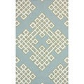 nuLOOM Handmade Modern Lattice Blue Rug (5' x 8')