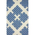 nuLOOM Handmade Modern Lattice White Rug (5' x 8')