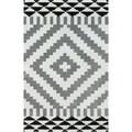 nuLOOM Handmade Modern Aztec Grey Rug (7' 6 x 9' 6)