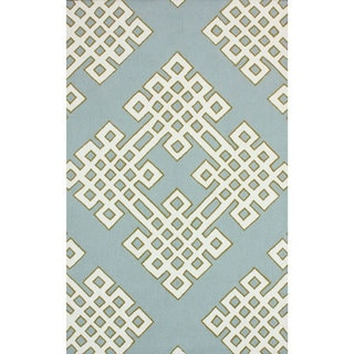 nuLOOM Handmade Modern Lattice Blue Rug (7' 6 x 9' 6)