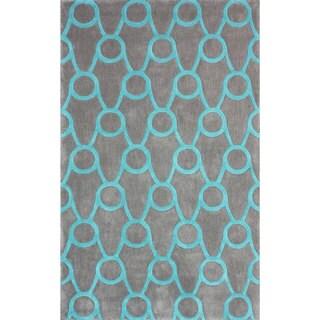 nuLOOM Handmade Modern Trellis Grey Rug (7'6 x 9'6)