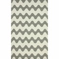 nuLOOM Handmade Wool Modern Waves Grey Rug (3'6 x 5'6)
