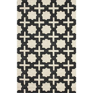 nuLOOM Handmade Indoor/ Outdoor Moroccan Star Trellis Coffee Rug (3'6 x 5'6)