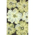 nuLOOM Handmade Big Floral Brown Rug (5' x 8')