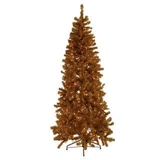 Gold Tinsel Tree