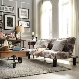 INSPIRE Q Glenroy Grey Floral Adjustable Futon