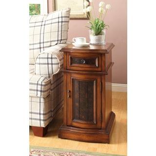 Oak Finish Side Table
