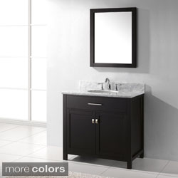 Virtu USA Caroline 36-Inch Single Sink Bathroom Vanity Set